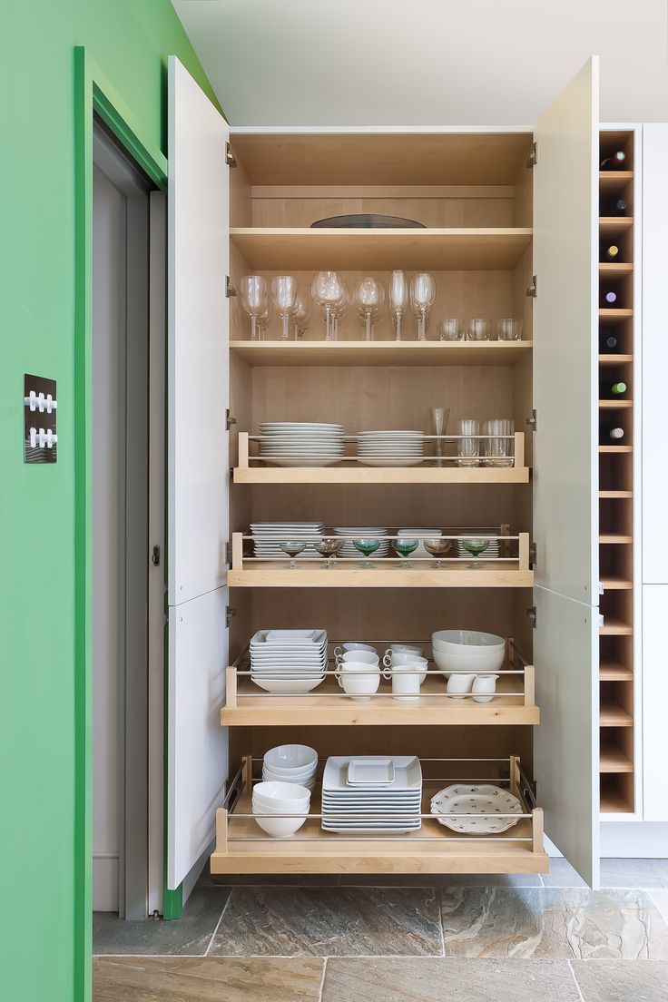Double Door Larder Cabinet with wide pull-out drawers