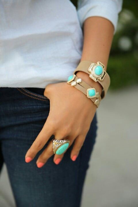 Blue ring and bracelet