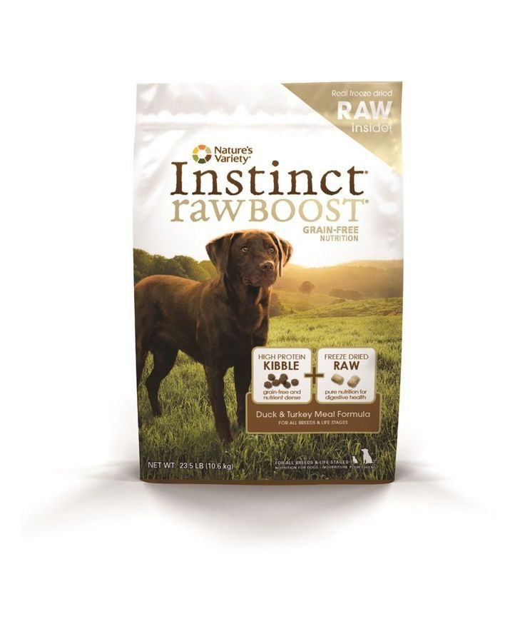 Nature's Variety Instinct Raw Boost Grain Free Duck and Turkey Meal Formula Dry Dog Food, 23.5 lb. Bag ^^ Want to know more, visit the site now : Dog Food