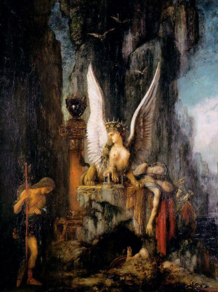 Gustave MOREAU : Oedipe et le Sphinx 186