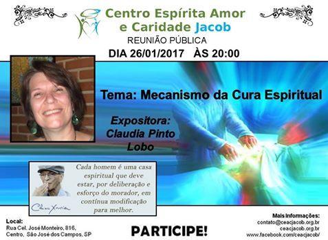 C.E. Amor e Caridade Jacob - Mecanismo da Cura Espiritual - São José dos Campos - SP - http://www.agendaespiritabrasil.com.br/2017/01/25/c-e-amor-e-caridade-jacob-mecanismo-da-cura-espiritual-sao-jose-dos-campos-sp/