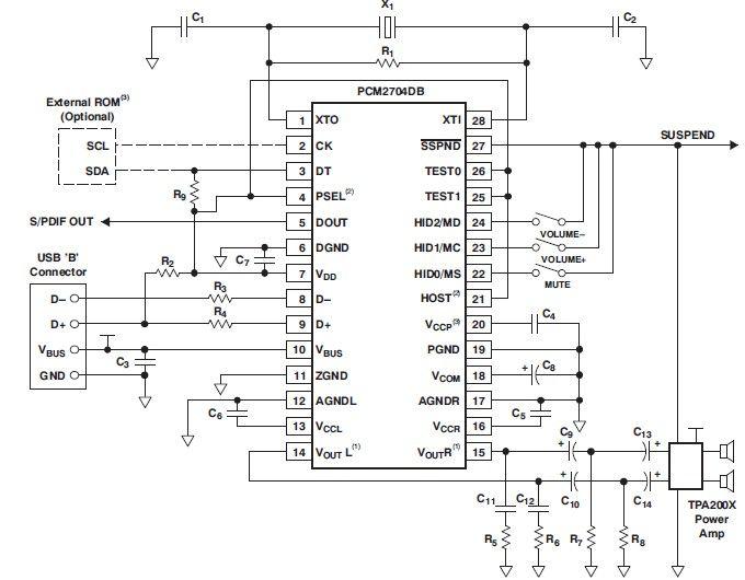 usb u202c sound card circuit