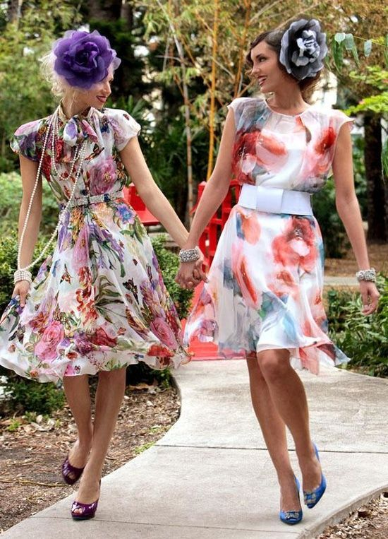Here is an example of what would be expected to be worn at a garden party. In this instance this would certainly be an appropriate outfit for guests to wear to this garden party as the dress is cocktail, so it covers both bases of cocktail and garden party.