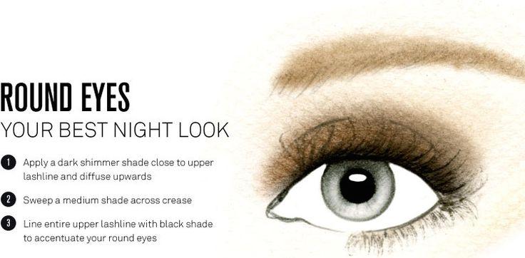 Eye makeup tips round eyes