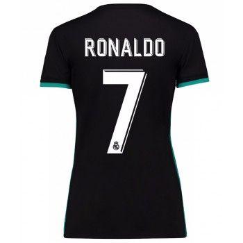 Real Madrid Cristiano Ronaldo 7 kläder Kvinnor 17-18 Bortatröja Kortärmad  #Billiga #fotbollströjor