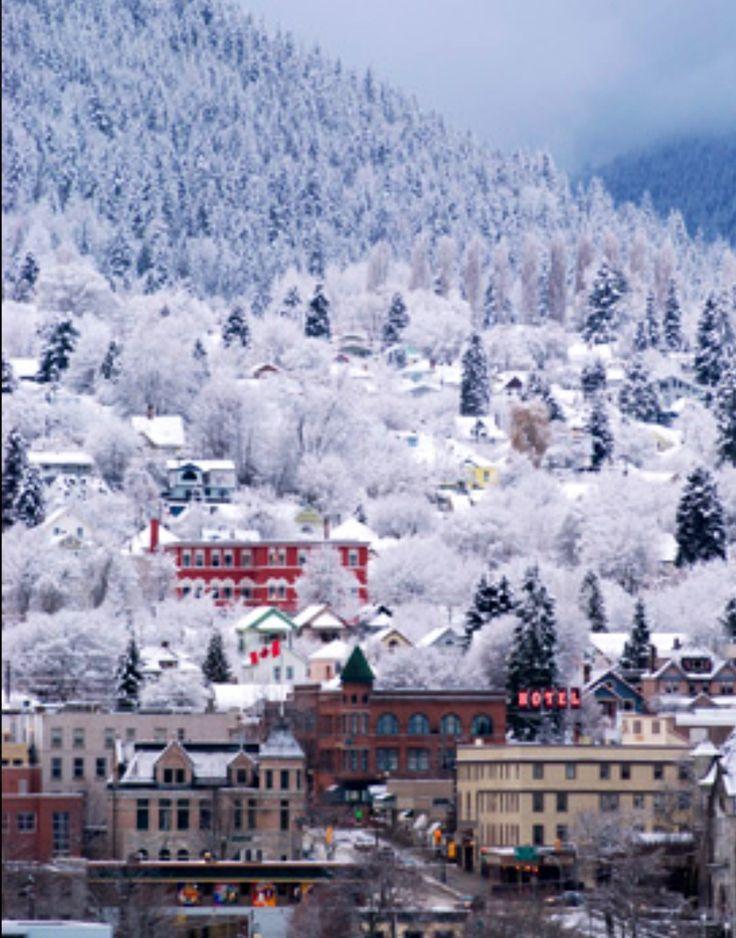 Nelson in wintertime, British Columbia.
