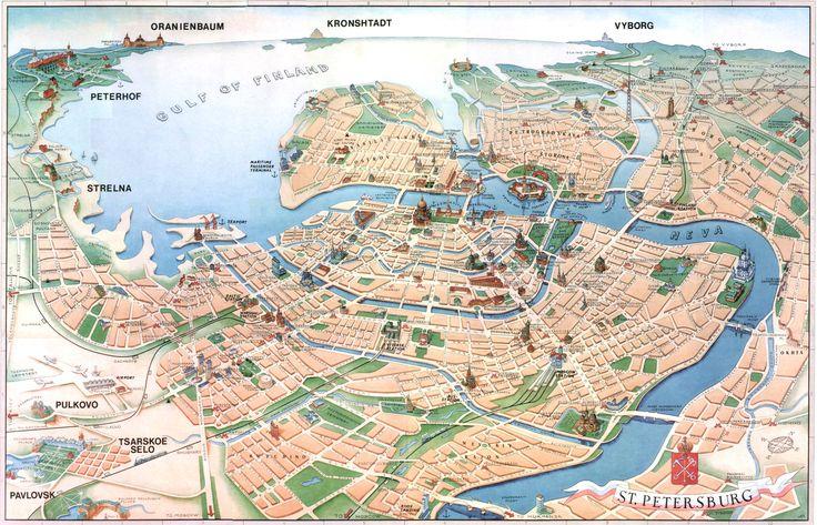 Mapa Monumentos São Petersburgo
