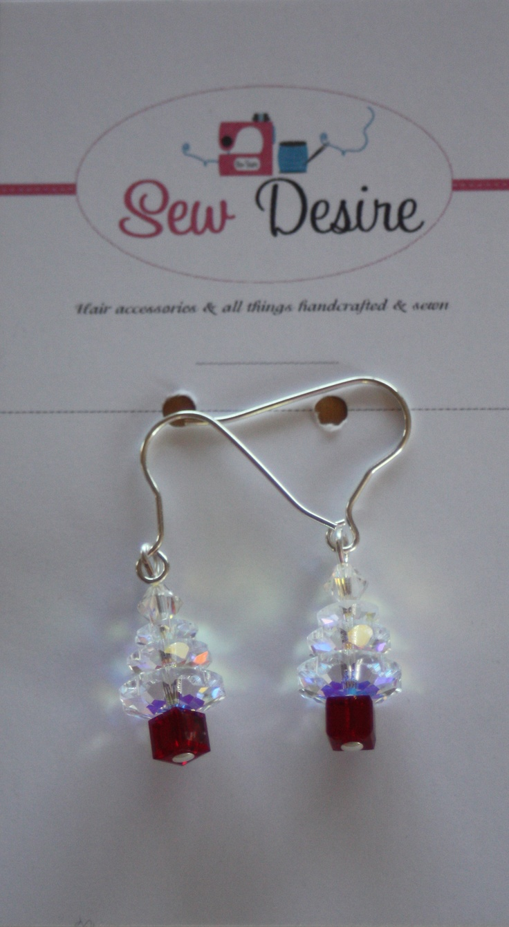 White swarovski crystal and sterling silver Christmas tree from Sew Desire