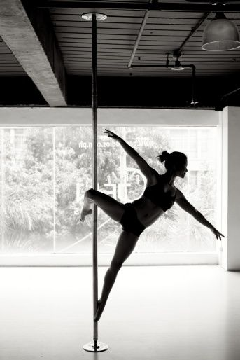 pole-dancing is a great way to learn grace, poise, discipline and to get fit!
