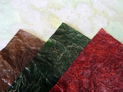 Faux leathers in three colours