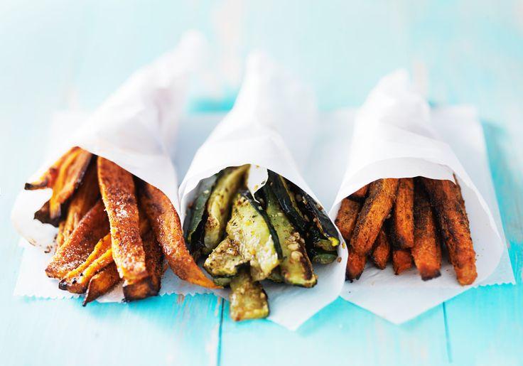 healthy fries, sweet potato fries, zucchini fries, carrot fries, easy fries, make healthy fries, food for the skin, clear skin