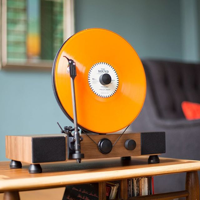 A high-performance turntable that plays your records vertically through built-in, dynamic, full-range stereo speakers. Get ready to spin vinyl right out of the box.