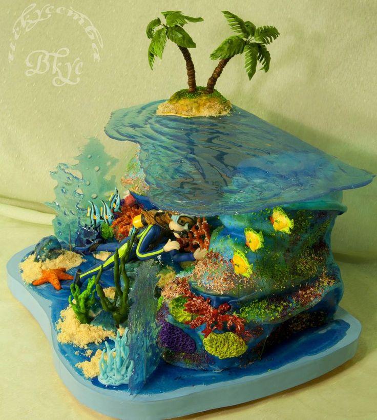 Cake For A Girl Who Enjoys Diving