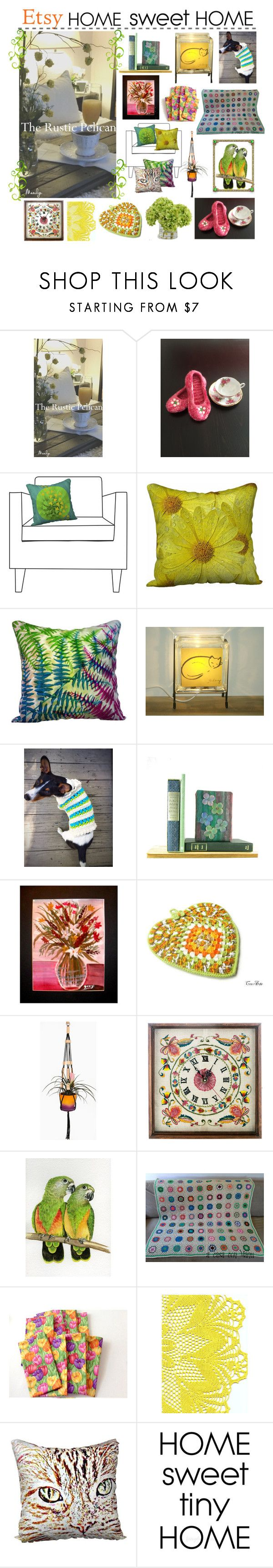 Etsy Home Sweet Home by belladonnasjoy on Polyvore featuring interior, interiors, interior design, home, home decor, interior decorating, Rustico, Hostess, modern and rustic