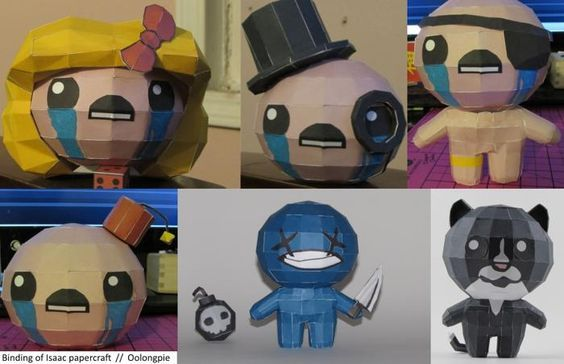 The Binding of Isaac Free Papercrafts Download - http://www.papercraftsquare.com/binding-isaac-free-papercrafts-download.html