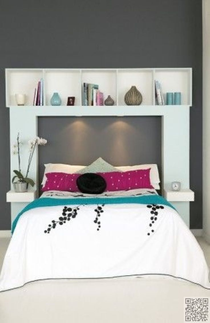 9. DIY #Headboard with Storage - #Dreamy DIY Headboards You Can Make by #Bedtime…