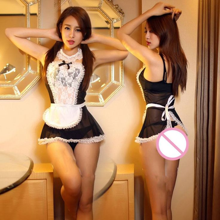 2017 france style maid uniform sexy underwear Black and white chest bra+Small flouncing skirt +lace Jewelry sexy lingerie hot