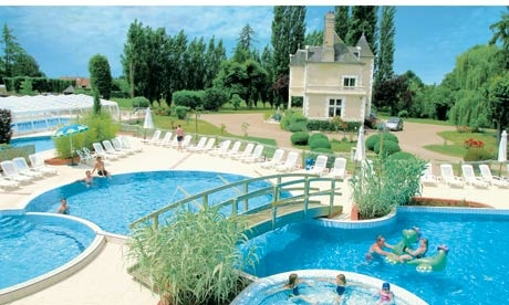 Luxury camping at its best! Camping Chateau des Marais near Chambord, France - complete with water park and its own chateau
