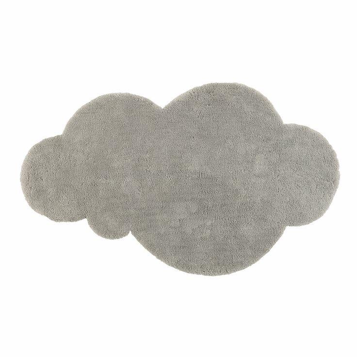 Kurzhaarteppich Wolke grau 60 x 100 cm | Maisons du Monde