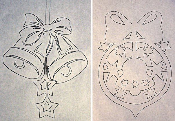 How to DIY Paper Christmas Window Decorations from Free Template   www.FabArtDIY.com