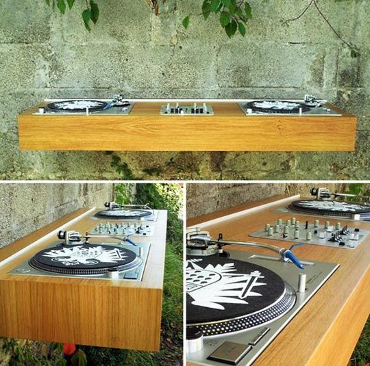Unique Final Frame The Floating DJ Turntable Station