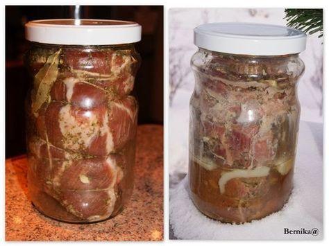 Bernika - mój kulinarny pamiętnik: Mięso ze słoika