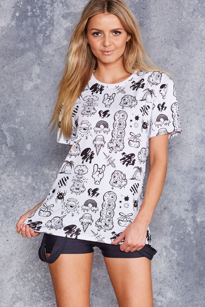 Flash Monsters White BFT - 48HR ($70AUD) by BlackMilk Clothing