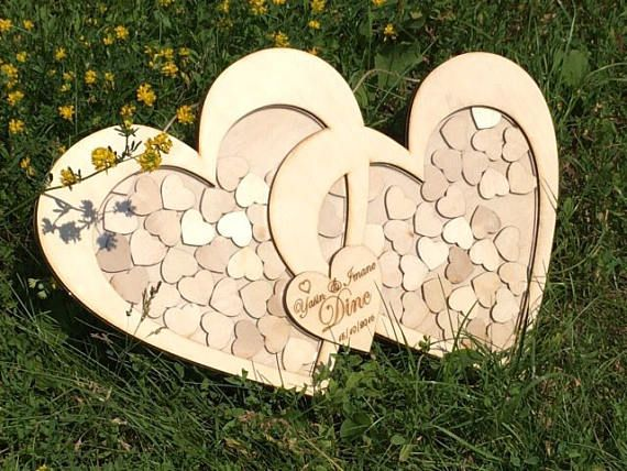 100 Heart Wedding Guest Book Sign And Drop In Frame Alternate Guestbook Shado Guest Book Shadow Box Wedding Shadow Box Guest Book Wedding Drop Box Guest Book