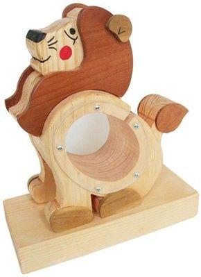 Custom Made Wooden Lion Savings Bank