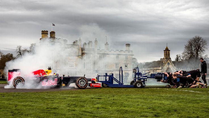 The F1 Scrum with Daniel Ricciardo and Bath Rugby Club - YouTube
