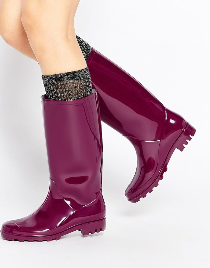 ASOS: Gangster Wellies, rain boots. Fall outfit. See more boots >>> http://bit.ly/1Pv5AF1