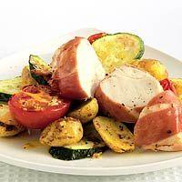 Recept - Kip met ham en krieltjes uit de oven - Allerhande