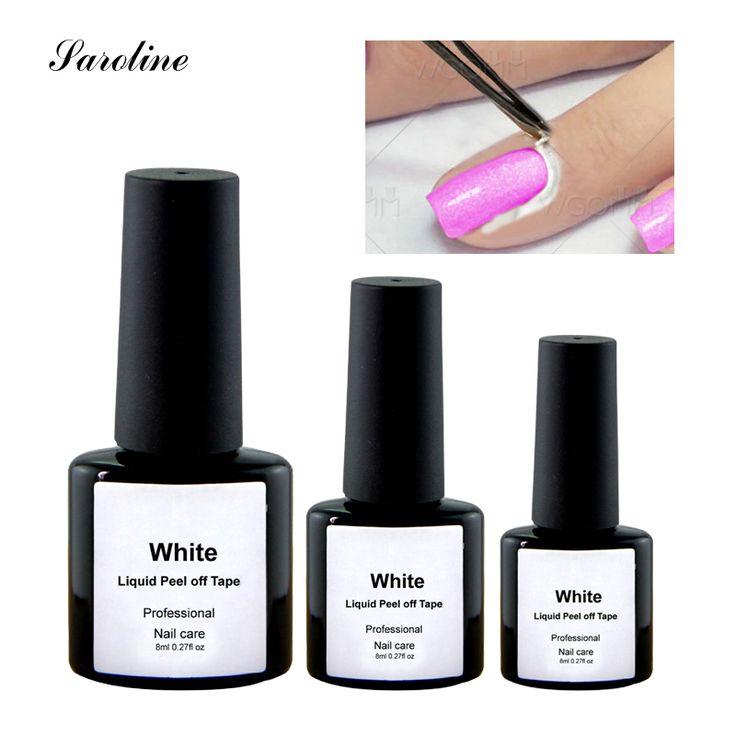 Easy Clean Tape Cream Nail Polish Peel Off Liquid Tape From Nail Polish Protection Finger Skin Cream White Latex Protected Glue