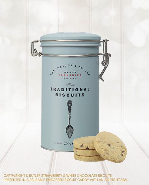 It feels like these luxury, thick, tasty white chocolate biscuits in a posh Biscuit Tin were made to go with a cup of Twinings