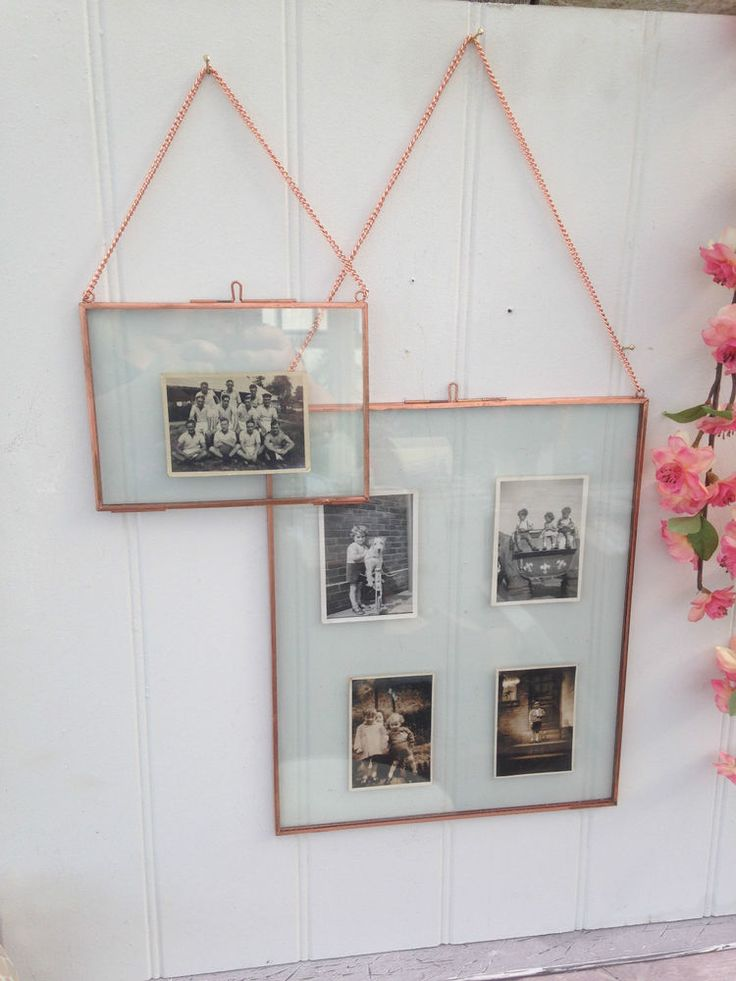 details about hanging copper picture photo frames double sided glass choice of size