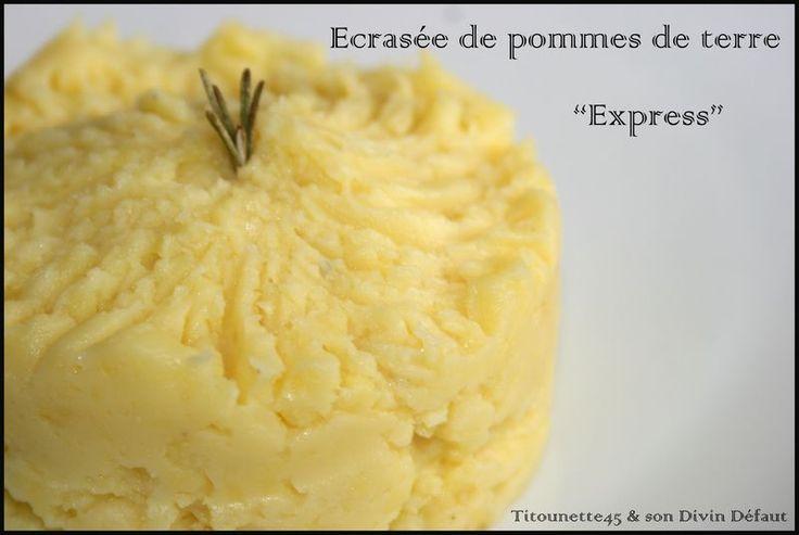 Ecrasé de pommes de terre Express au micro-ondes