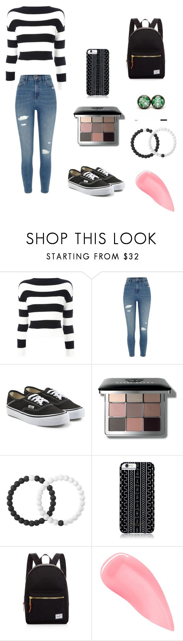 """Winter break"" by queenstephy88 on Polyvore featuring Boutique Moschino, River Island, Vans, Bobbi Brown Cosmetics, Lokai, Savannah Hayes, Herschel Supply Co., Kevyn Aucoin and clear"