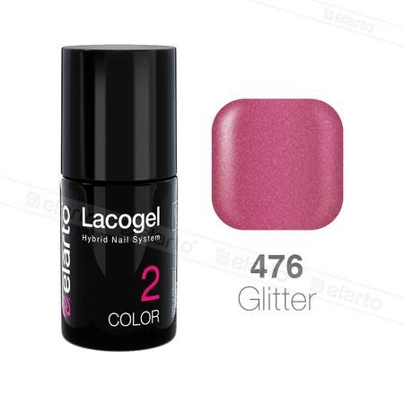 Lakier hybrydowy Lacogel nr 476 - magenta brokat 7ml #lacogel #elarto #magenta #brokat