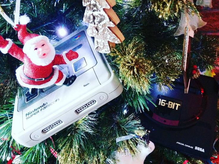 Who's looking forward to a games console under/in the tree this year? #MegaDrive #SNES #Sega #Nintendo #Xbox #Christmas #Tree #RetroGaming
