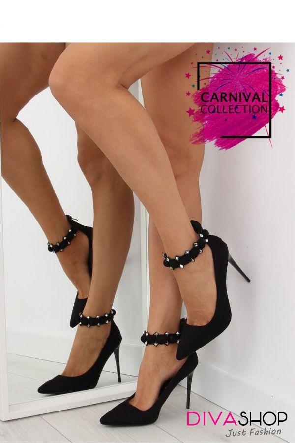 Pantofi cu toc negru Inello