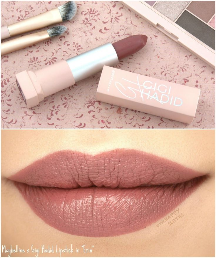 Maybelline X Gigi Hadid Lipstick In Erin Review And Swatches
