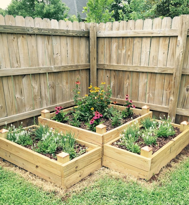 My Raised Flowerbeds Made Of 2x4's And 4x4 Posts.
