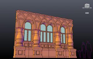 Стена дома из кирпича с бочками а арками. Проект кирпичного фасада в русском стиле. Архитектор Антон Булатецкий