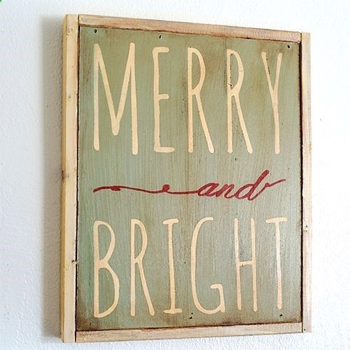 Merry and Bright DIY Sign with printable template and video