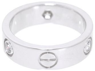 カルティエ リング ラブリング 3Pダイヤ ダイヤモンド ハーフダイヤ K18WGホワイトゴールド リングサイズ51 B4032500 B4032551 Cartier 指輪 ジュエリー ダイアモンド