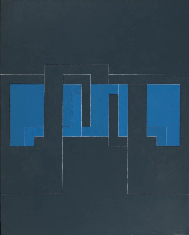 Robyn Denny Head On 2 Signed, titled and dated '1975' (verso) Oil on canvas 46 x 37 ins