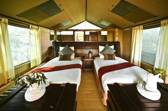 Tented Bedroom at Pom Pom Camp (Okavango Delta, Botswana)