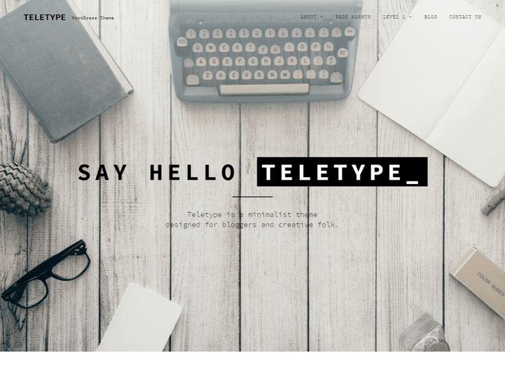 Teletype – Template Gratis WordPress