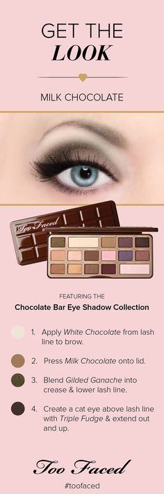 Too Faced Chocolate Bar Eye Shadow Collection: Milk Chocolate look
