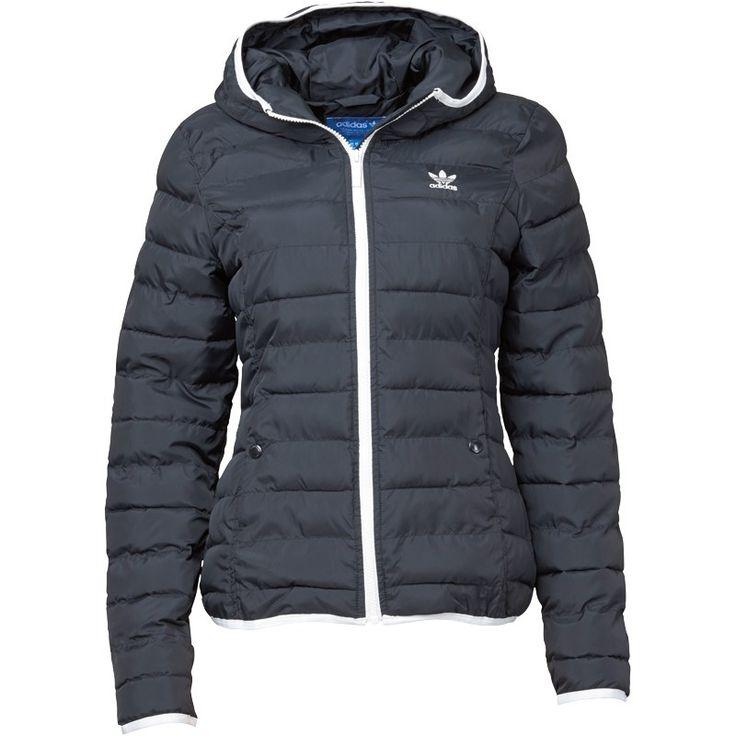 Adidas Originals Womens Trefoil Slim Padded Hooded Jacket